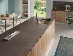 Granite countertop for kitchen decoration made of wood Kitchen Decor, Kitchen Design, Kitchen Modern, Kitchen Worktop, Kitchen Photos, Cuisines Design, Modern Materials, Granite Countertops, Granite Kitchen