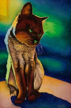 Sadie: Signed Print from original watercolor cat painting. Animal Paintings, Animal Drawings, Drawing Animals, Watercolor Cat, Watercolor Paintings, Illustration Photo, Cat Colors, Oeuvre D'art, I Love Cats