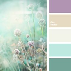 Gamma of natural pastel shades: lilac, beige-gray, gray-white, light blue, green-blue. This colour solution suits well kitchen or living room design, it do.