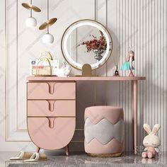 Girl Room, Baby Room, Dressing Area, Dressing Table, Pastel Bedroom, Bedroom Wardrobe, Kid Spaces, Kidsroom, Kids Bedroom