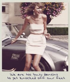 """We are too busy dancing to get knocked off our feet"" ~ New Romantics"