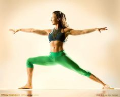 Tiffany Cruikshank. Warrior asana.