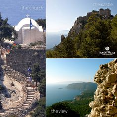 Can you think of a better place to visit?!  Enjoy the stunning view from the castle of Monolithos with the medieval castle!!  Choose Rodos island for your next vacation! Choose Rodos Palace Hotel for your stay!  www.rodos-palace.com