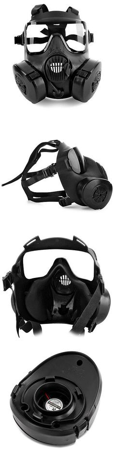 Hot Cs Airsoft Paintball Dummy Gas Mask With Fan For Cosplay Protection Halloween Evil Antivirus Skull Festival Decor Good Reputation Over The World Festive & Party Supplies