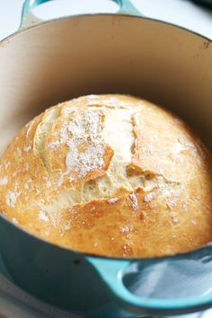 No Knead Crusty Artisan Bread via The Baker Chick