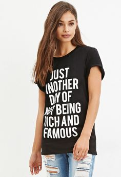 Local Heroes Rich and Famous Tee - 350 kr. - http://www.forever21.com/Product/Product.aspx?BR=F21&Category=top_graphic-tees&ProductID=2000141746&VariantID=