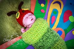 Dress your baby as the Very Hungry Caterpillar for his/her first photo shoot or bundle them up in this cozy costume for Halloween this year!