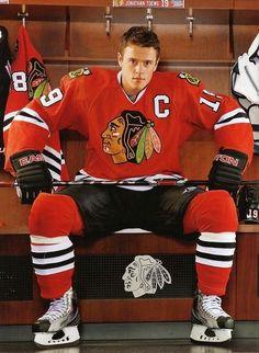 Jonathan Toews. even though Canucks are my fav team, i still like Chicago alot!