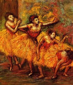 Four Dancers - Edgar Degas - circa 1903