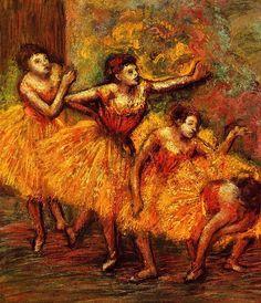 Four Dancers - Edgar Degas - circa 1903