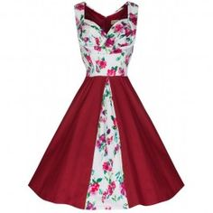 Robe Pin-Up Rétro 50's Rockabilly Avis Floral