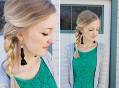 Can you tell I have a thing for tassels (see posts here & here)? They are so easy to make and add a fun flair to lots of projects! Today's tassel DIY is how to create earrings out of embroidery floss. Earring Tutorial, Diy Tutorial, Diy Fashion, Fashion Beauty, Diy Tassel Earrings, Diy Embroidery, Vintage Inspired, Tassels, Easy Diy