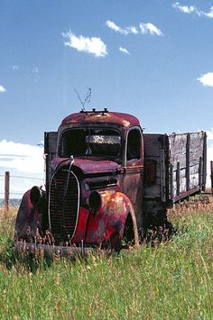 Old Farm Truck With Wood Side Boards
