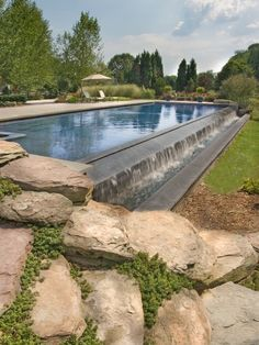 Love the naturalistic look of this pool