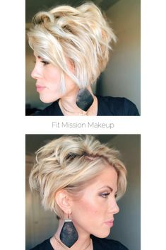 hair beauty - Fit Mission Makeup with Jocelyn McClellan Curly Hair Styles, Short Curly Hair, Short Hair Cuts, Medium Hair Styles, My Hairstyle, Short Bob Hairstyles, Teenage Hairstyles, Pixie Haircut, Hair Today