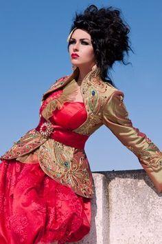 Algerian Fashion: Red Karakou Dress