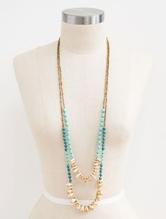 31 Bits Saharan Threads Turquoise/Teal Necklace