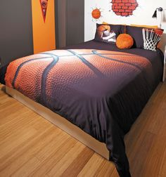Basket by Zenima is the coolest way to express his love for the game. Your all-star will feel like an MVP with this awesome bedding collection. The beautiful attention to detail and graphics throughout this ensemble are brilliant. The fabrics are made of 100% cotton so it's as comfortable as it looks. Basket by Zenima is available in Twin, Full, Queen and King size comforter sets or duvet cover sets. Other coordinating items are also options in this line to customize the look for your spa...
