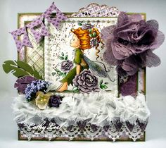"""My """"W""""ednesday card for Magnolia-licious by Cathy Lee of Cathy's Creative Place. #cards #crafts"""