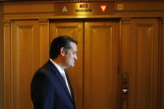 U.S. Senator Ted Cruz (R-TX) departs after remarks on the Senate floor as the body prepared to conduct a series of federal budget spending votes at the U.S. Capitol in Washington September 27, 2013. The U.S. government braced on Friday for the possibility