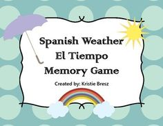50% off for first 24 hours! Spanish Weather El Tiempo Memory Game