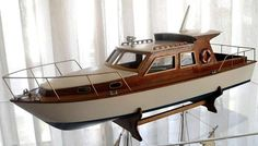 Boat Plans Stitch And Glue Chris Craft Wooden Boats, Wooden Model Boats, Wood Boats, Bateau Rc, Small Houseboats, Rc Boot, Model Boat Plans, Buy A Boat, Boat Kits