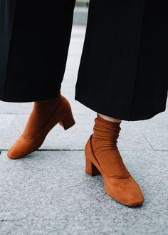 wide leg pants, sock booties