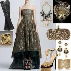 Charlotte Olympia Rapunzel Braided by Charlotte Olympia$1,595 Arta Diamond Shield Ring Arta by Gucci$5,345 Aurélie Bidermann Gold plated lace cuff by Aurelie Bidermann$725 Pizzo Nero gold plated Swarovski by Dolce & Gabbana$910 Lanvin Pearly Tassel Necklace by Lanvin$3,790 Opera Length Leather Gloves by Tory Burch$225 Gold Embroidered Clutch by Marchesa$3,295 Galaxia black/silver::Full Face Masks... by C Petula$250 Monique Lhuillier Feather Lace Strapl... by Monique Lhuillier$4,990…