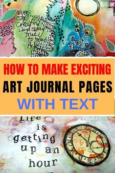 Do you want to add text to your art journal page but don't know how? Try these easy, creative and fun ways to add words and quotes to your pages Art Journal Pages, Art Journal Backgrounds, Art Journal Prompts, Art Journal Techniques, Art Pages, Art Journaling, Journal Ideas, Art Journal Tutorial, Mixed Media Journal