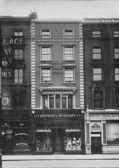 24 Westmoreland Street, alterations by G. Crampton for Kennedy & McSharry, a men's clothes shop, in Dublin Street, Dublin City, Old Pictures, Old Photos, Photo Engraving, Ireland Homes, Emerald Isle, Dublin Ireland, Vintage Photography