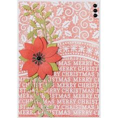 Apple Blossom All Occasion Collection - Merry Christmas 6x6 embossing folder - CraftStash