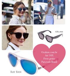 The collection of Celine sunglasses is famous for its thick frames, creative shapes, soft edges and clean lines. The French luxury brand was founded by Celine Vipiana in 1945, and today is a great feeling in the luxury segment, with timeless accessories, chic, minimalist collections, and a touch of contemporary.