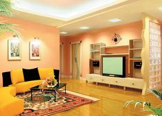 Color Combinations For Living Room - Color Combination Living Room Interior Design 18 Drawing Room Colour Combination, Living Room Color Combination, Interior Color Schemes, Room Color Schemes, House Paint Interior, Room Interior, Interior Painting, Interior Design, Hall Colour