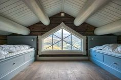 FINN – Høy kvalitet håndlaftet hytte, laftehytte, laft Winter Cabin, Winter House, Attic Bedrooms, Cabin Interiors, Rustic Cabin Decor, Attic Spaces, Log Cabin Homes, Home Organization Hacks, Cabins In The Woods