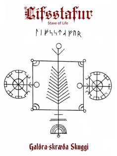 """This is the Lífsstafur (Lifsstafur - life's stave / stave of life) found in the 1940 publication """"Galdra-skræða Skuggi"""" by Icelandic scholar Jochums M Eggertssonar. There is not anything written beyond to the title, however the Icelandic definition of """"life"""" relates more to the state of being alive than that of a way of life or living. It can also mean one's body, even body and soul, thus it could be regarded as a symbol to keep you alive and healthy."""