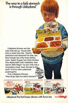 1972 Libbyland Frozen Kids TV Dinners Ad by gregg_koenig, via Flickr