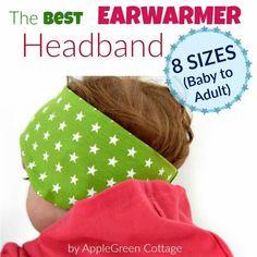 Make the best ear warmer headband using this ear warmer headband pattern in 8 sizes.