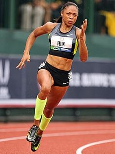 Allyson Felix runs to victory in the Women's 200 metres in the 2012 U. Olympic Track & Field Team Trials at Hayward Field on June 2012 in Eugene, Oregon. (Photo by Andy Lyons/Getty Images) Allyson Felix, Olympic Track And Field, Track Field, David Laid, Bodybuilding, Olympic Athletes, Female Athletes, Women Athletes, Athletic Women