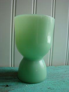Vintage FireKing Jadite Egg Cup by thefarmerswifect on Etsy