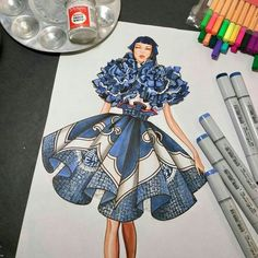 Fashion Design Drawing Fashion Drawing and illustration by Dress Design Sketches, Fashion Design Drawings, Fashion Sketches, Fashion Drawing Tutorial, Fashion Figure Drawing, Drawing Fashion, Fashion Sketchbook, Fashion Moda, Fashion Art