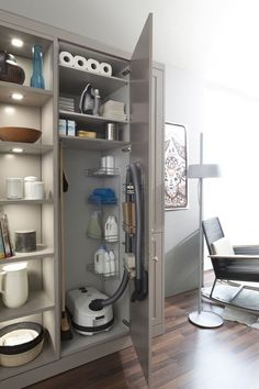 30 Small Bathroom Design Ideas for Your Home ~ Ideas for House Renovations Laundry Room Storage, Laundry Room Design, Kitchen Storage, Kitchen Decor, Laundry Rooms, Kitchen Pantry, Utility Room Storage, Kitchen Furniture, Furniture Storage