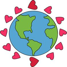 recycle and love the earth clipart go green kids earth day rh pinterest com earth clip art free earth cartoon clipart