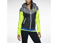 Nike Printed Windrunner Women's Jacket from Nike. Shop more products from Nike on Wanelo. Site Nike, Windrunner Jacket, Color Inspiration, Sport Outfits, Hooded Jacket, Jackets For Women, Workout, Prints, Leather
