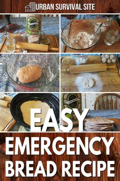 This emergency bread is easy to make, effective, and contains very few ingredients. You can make as much as you need for a single day, or for a few days. Urban Survival, Wilderness Survival, Few Ingredients, Emergency Preparedness, Home Remedies, Bread Recipes, Make It Simple, Canning, Ethnic Recipes