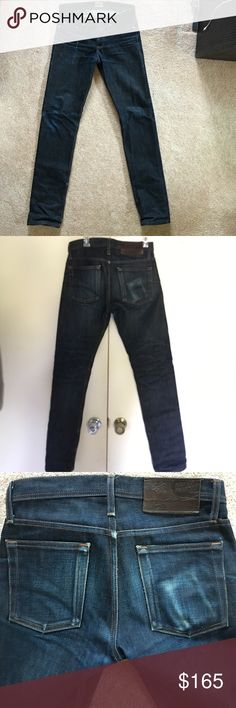 "Naked and Famous Denim WeirdGuy fit Selvedge, unwashed. Worn for 6 months . Inseams 35"" Naked & Famous Denim Jeans Straight"