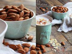 Mandelmilch, almond milk, breakfast, mia blanche, Frühstück