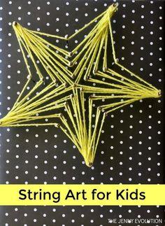 String Art for Kids - A fun fine motor art activity | The Jenny Evolution