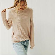 Bnwt Brandy Melville cream sweater Bnwt Brandy Melville Sweaters