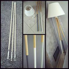 """Nouveau DIY LampeAprès ma lampe """"manches à balai"""", j'ai voulu tester un petit DIY Lampe avec des tringles…"""