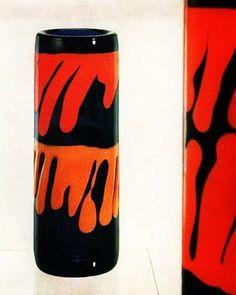 set of czech glass vases designed by ladislav oliva in skrdlovice glassworks in 1974 Czech Glass, Vases, Glass Art, Bohemian, Check, Beauty, Collection, Design